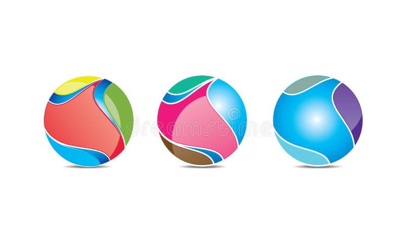 Esfera criativa Logo Template - Logo Design circular arredondado - logotipo de Abstrato Moderno Empresa ilustração royalty free
