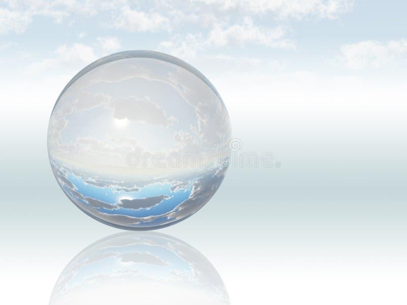 Esfera cristalina stock de ilustración