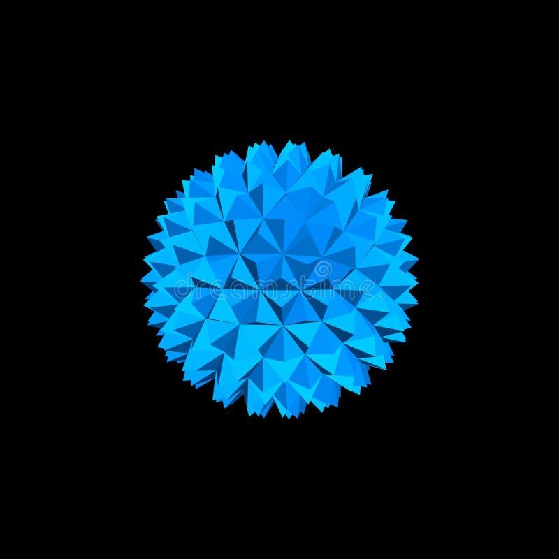 Esfera cristalina abstracta Aislado en fondo negro Vector la enfermedad stock de ilustración