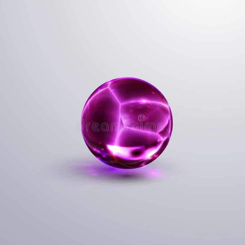 Esfera cristalina agrietada brillante libre illustration