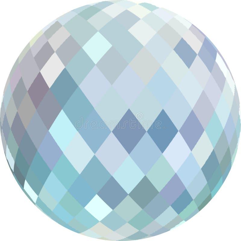 a esfera 3d de cristal isolou-se Ilustra??o abstrata ilustração do vetor