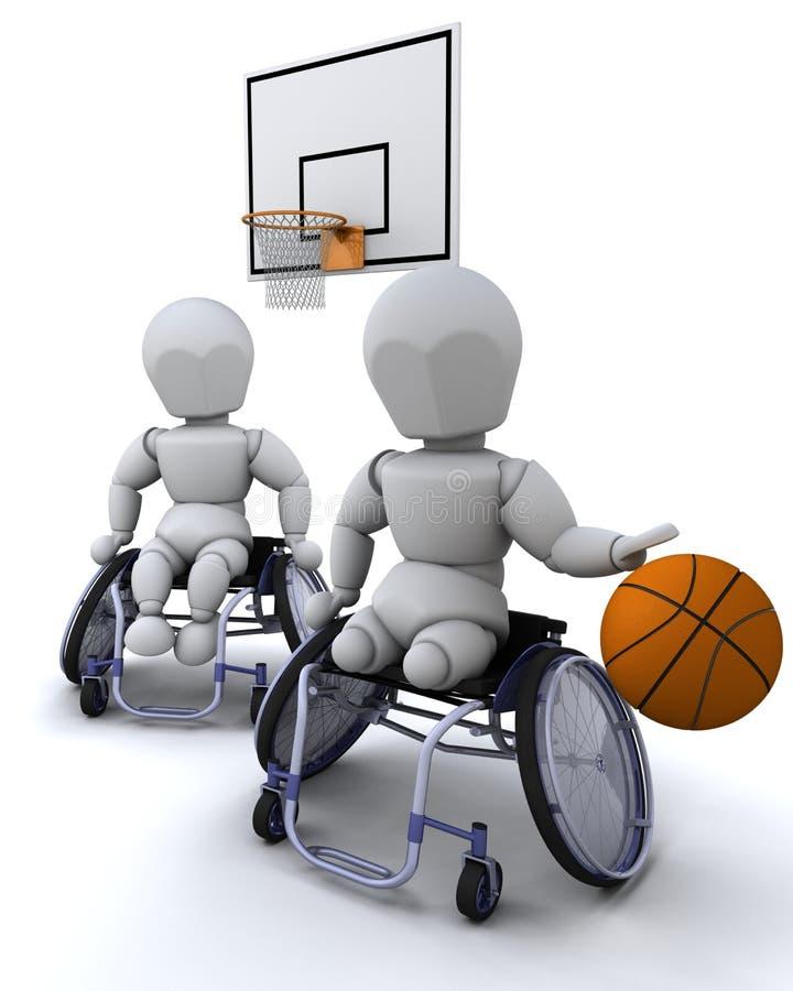 Esfera da cesta da cadeira de rodas ilustração do vetor