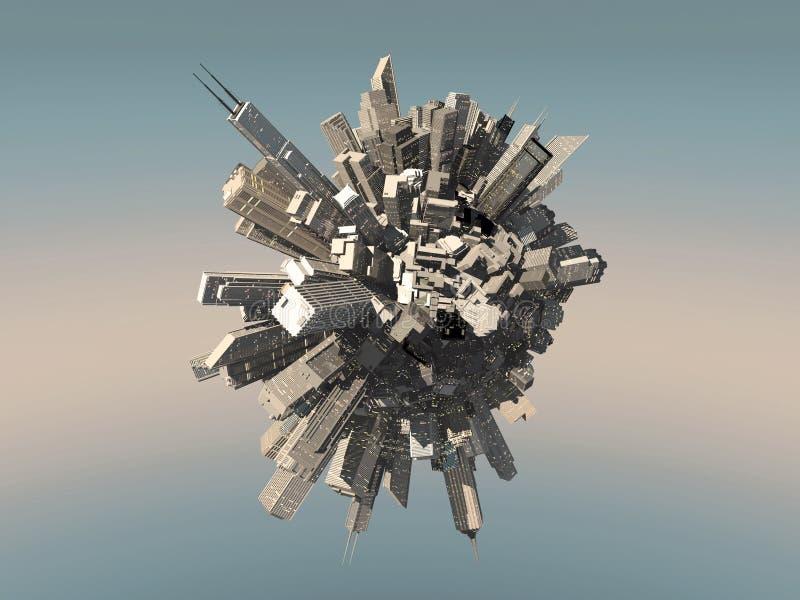 Esfera da cidade do futuro ilustração do vetor