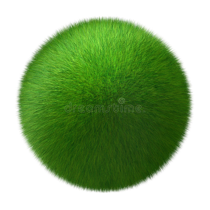 Esfera da grama fotografia de stock