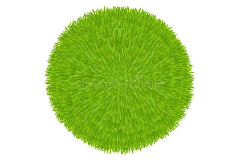 Esfera da grama verde. Vetor ilustração stock