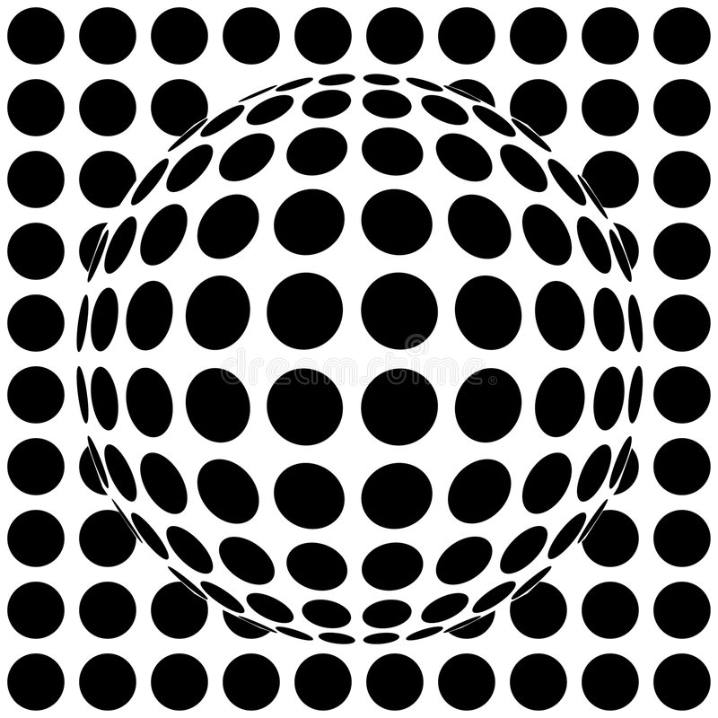 esfera da Op-arte ilustração royalty free