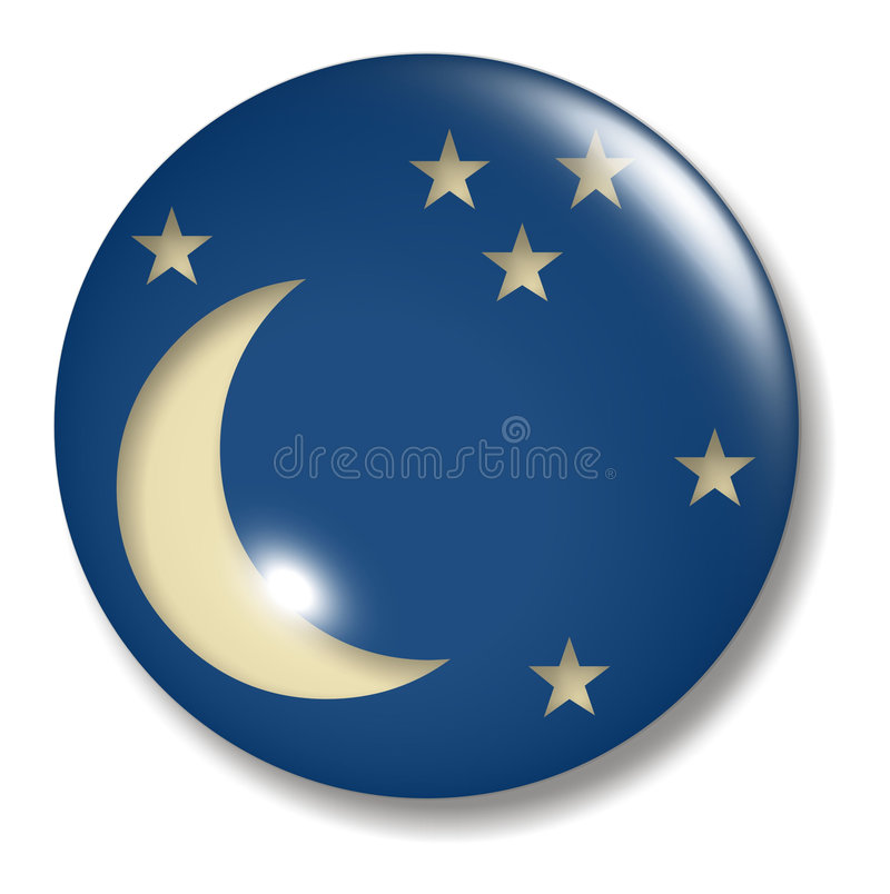 Esfera da tecla da lua de um quarto ilustração royalty free