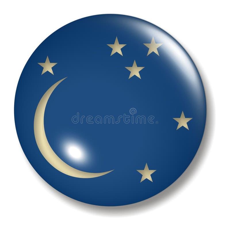 Esfera da tecla da lua nova ilustração do vetor