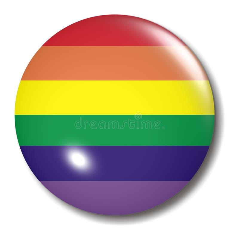 Esfera da tecla do arco-íris ilustração stock