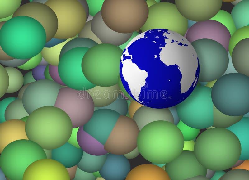 Esfera da terra ilustração royalty free