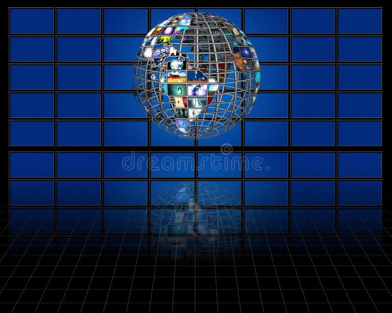 Esfera da terra do planeta ilustração royalty free