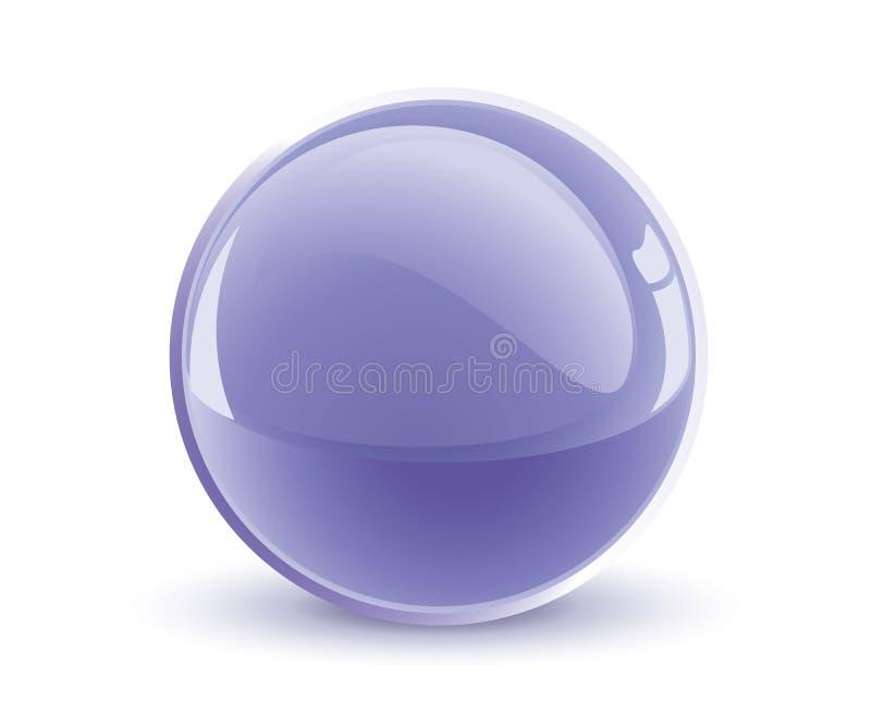 esfera da violeta do vetor 3d ilustração do vetor