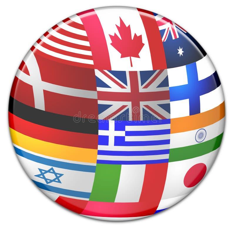 Esfera das bandeiras de país ilustração stock