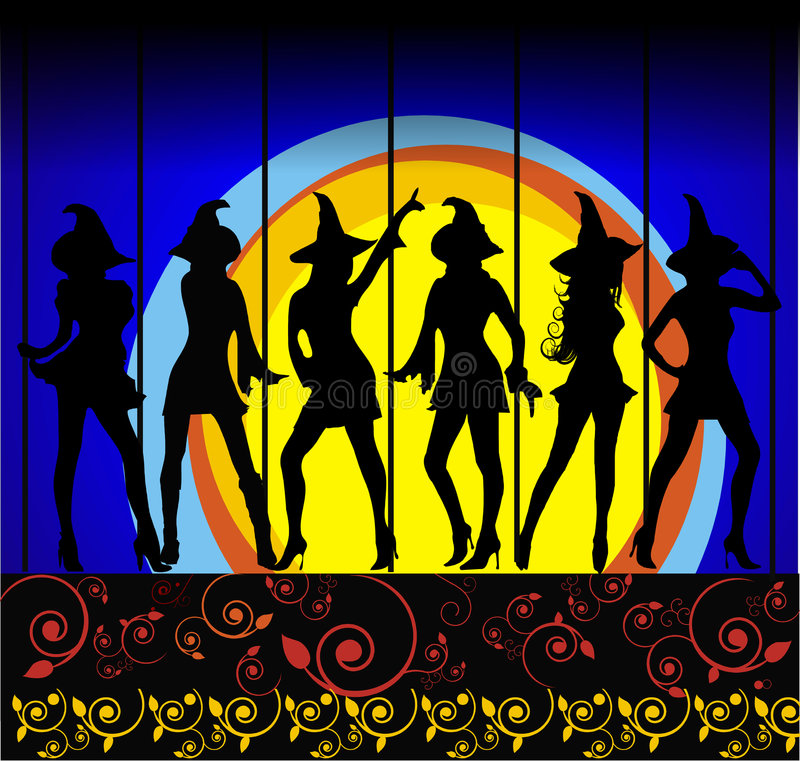 Esfera das bruxas ilustração royalty free