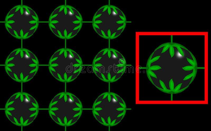 Esfera das plantas ilustração stock