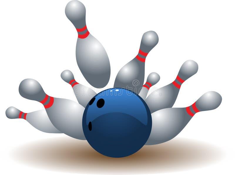 Esfera de bowling ilustração do vetor