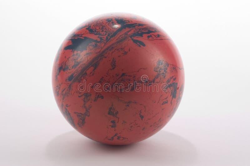 Esfera de bowling velha foto de stock