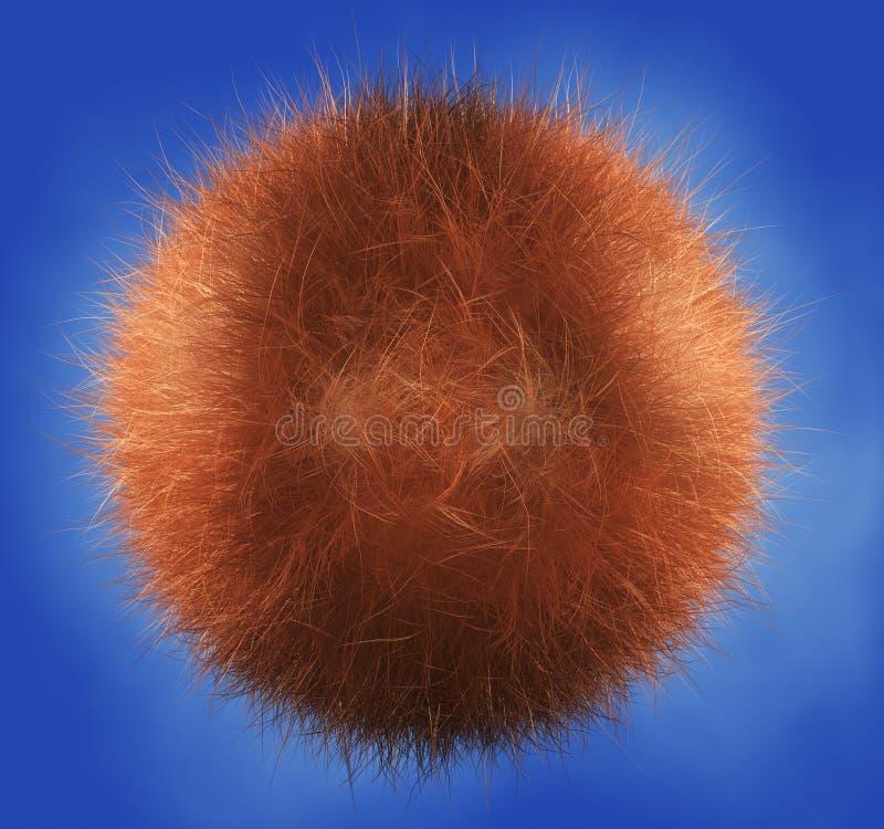 Esfera de cabelo ilustração royalty free