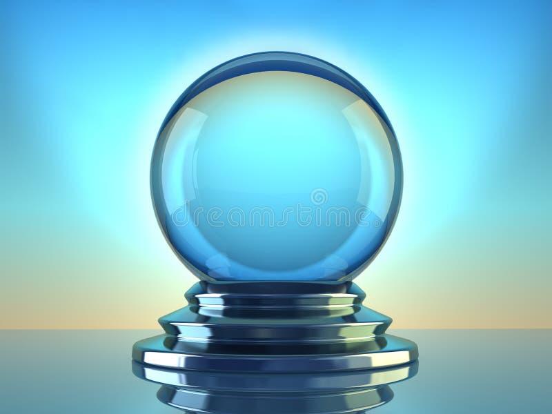 Esfera de cristal ilustração stock