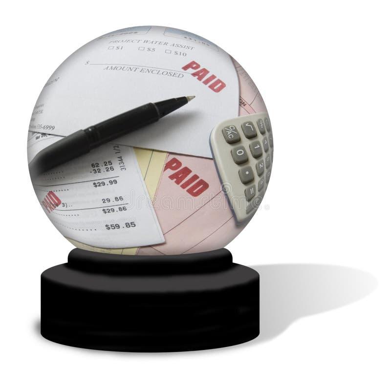 Esfera de cristal de contas pagas foto de stock royalty free