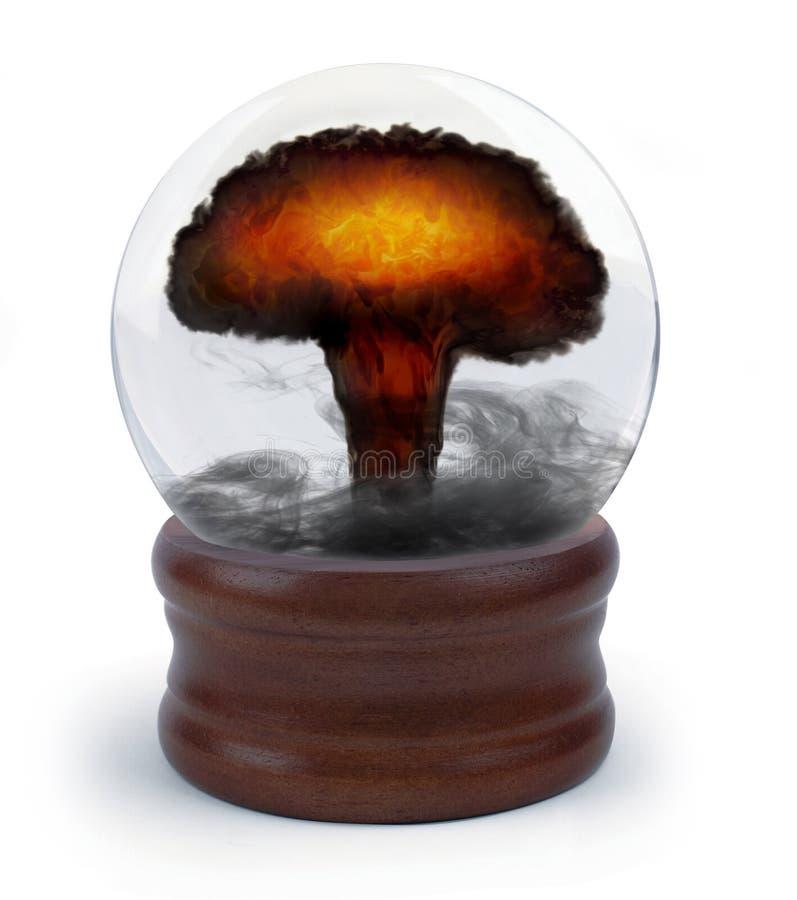Esfera de cristal nuclear ilustração stock
