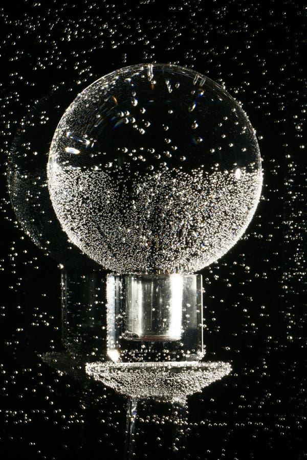 Esfera de cristal subaquática   fotografia de stock royalty free