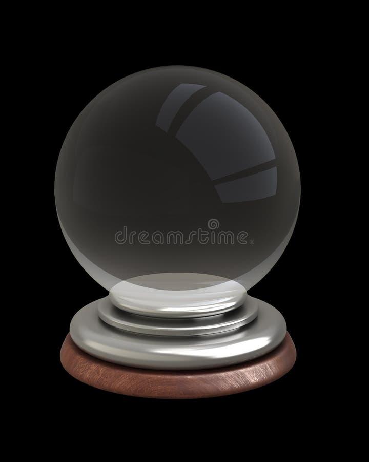 Esfera de cristal vazia isolada ilustração do vetor