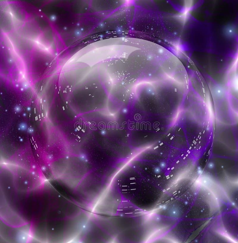 Esfera de Cystal ilustração royalty free