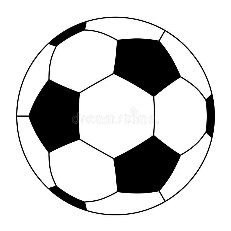 Esfera de futebol ilustração stock