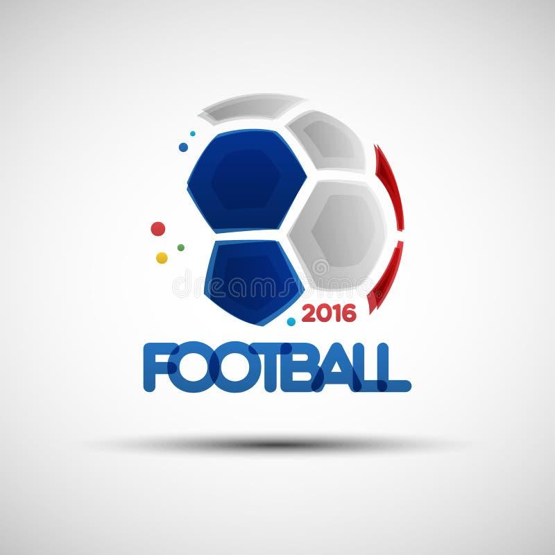 Esfera de futebol abstrata ilustração royalty free