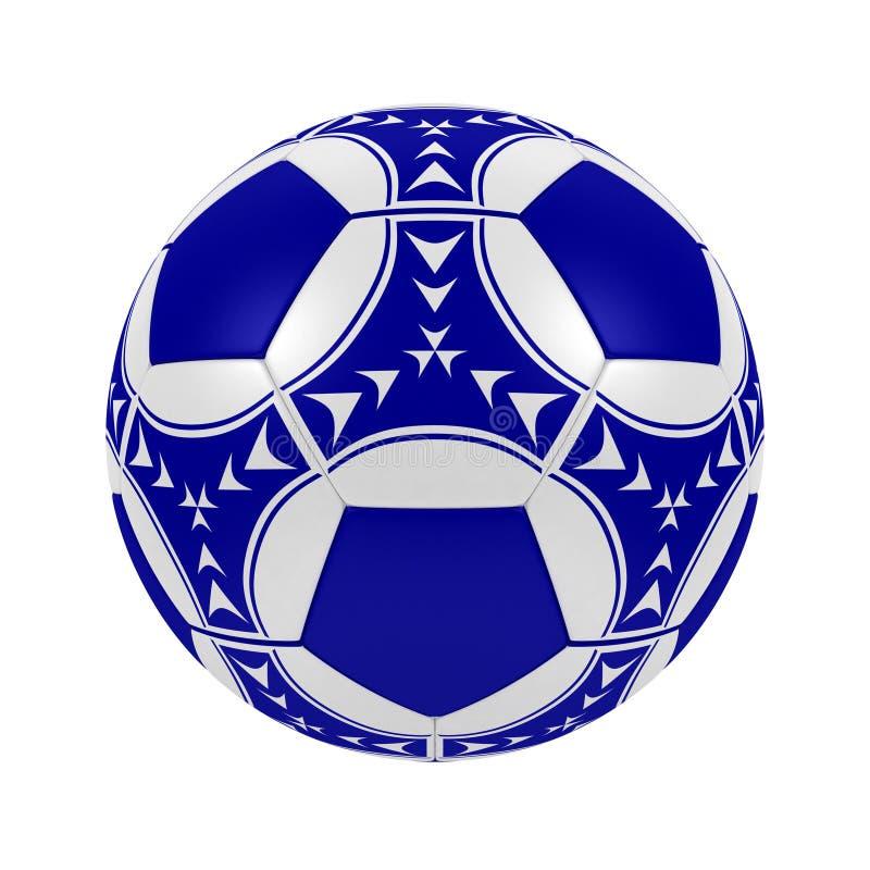 Esfera de futebol azul