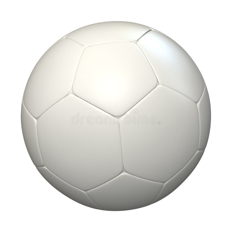 Esfera de futebol branca ilustração stock