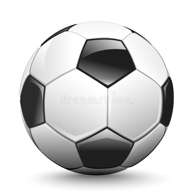 Esfera de futebol brilhante ilustração do vetor