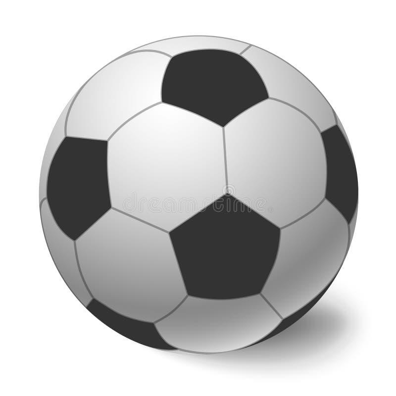 Esfera de futebol ?cone da bola do futebol ilustração do vetor