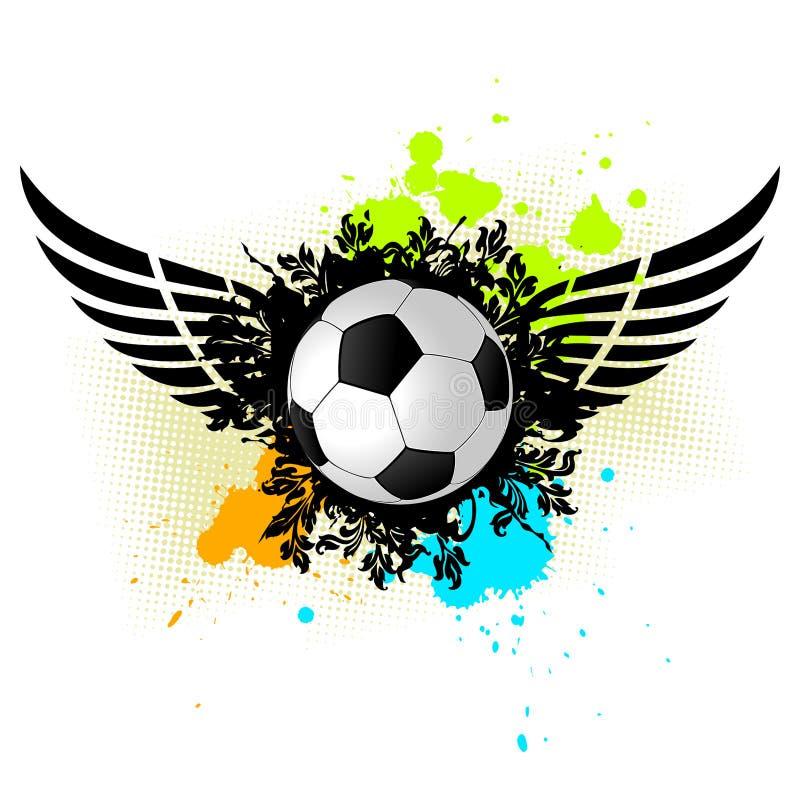 Esfera de futebol de Grunge ilustração royalty free