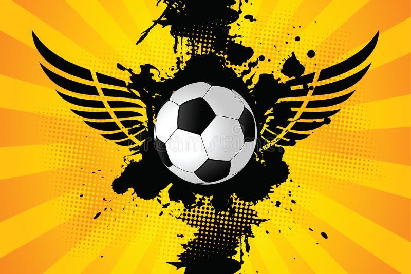 Esfera de futebol de Grunge ilustração do vetor