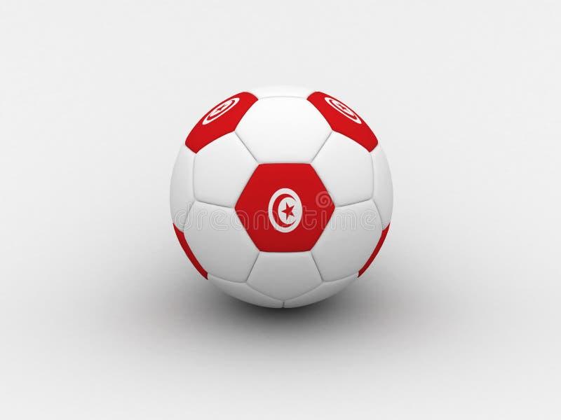 Esfera de futebol de Tunísia ilustração stock