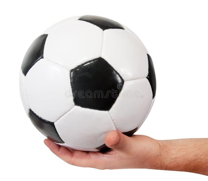 Esfera de futebol disponivel imagem de stock royalty free