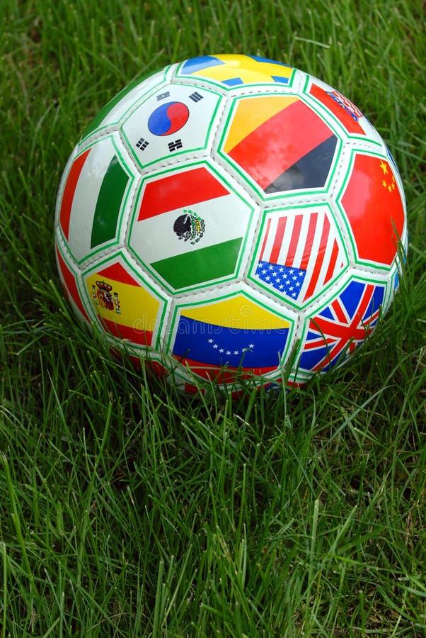 Esfera de futebol do copo de mundo foto de stock royalty free