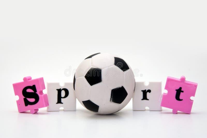 Esfera de futebol do esporte foto de stock royalty free