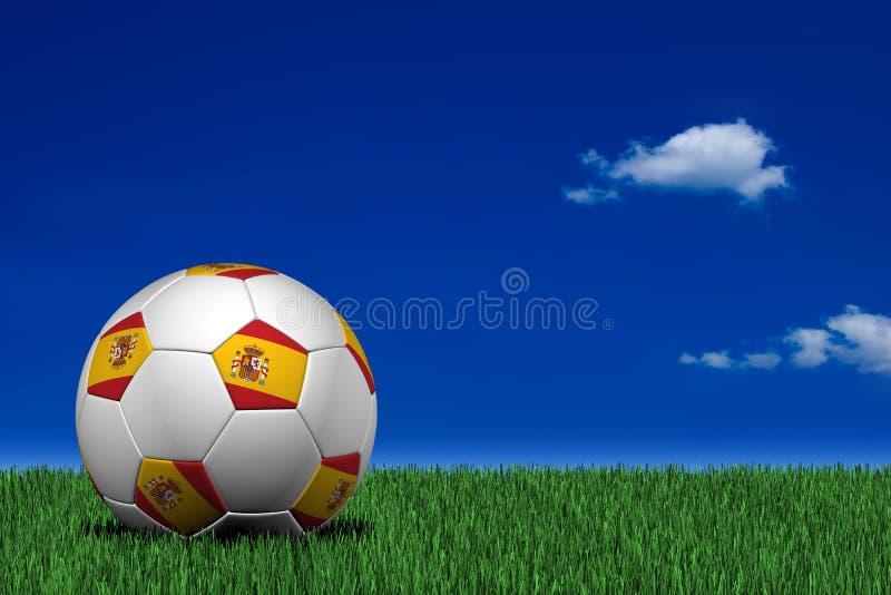 Esfera de futebol espanhola ilustração royalty free