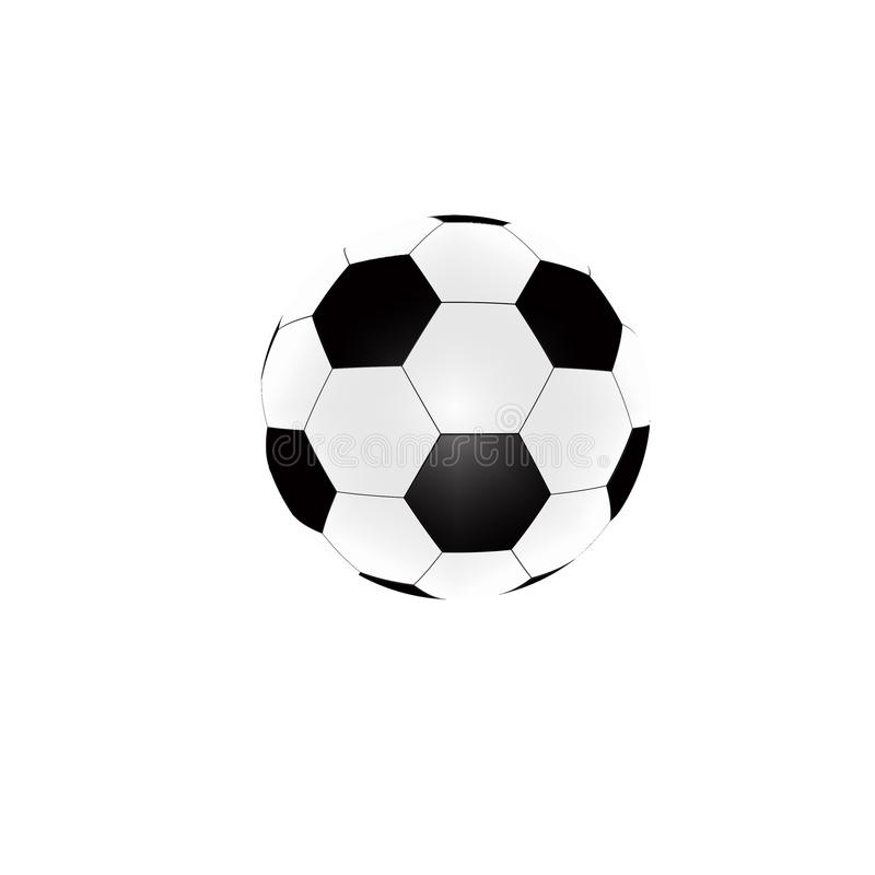 Esfera de futebol isolada no fundo branco ilustração royalty free