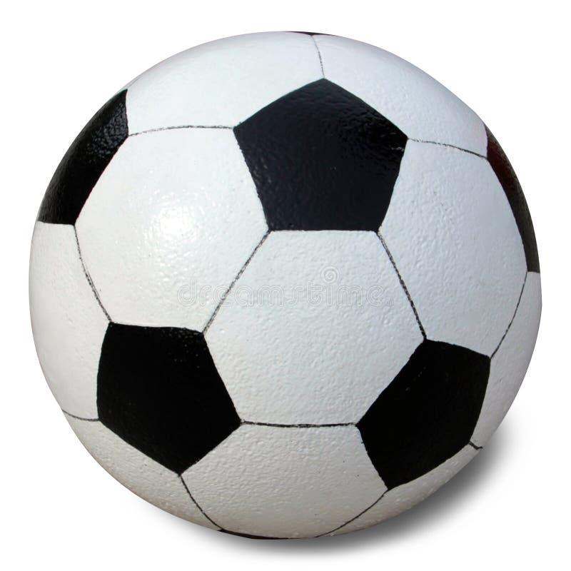 Esfera de futebol no fundo branco imagem de stock royalty free