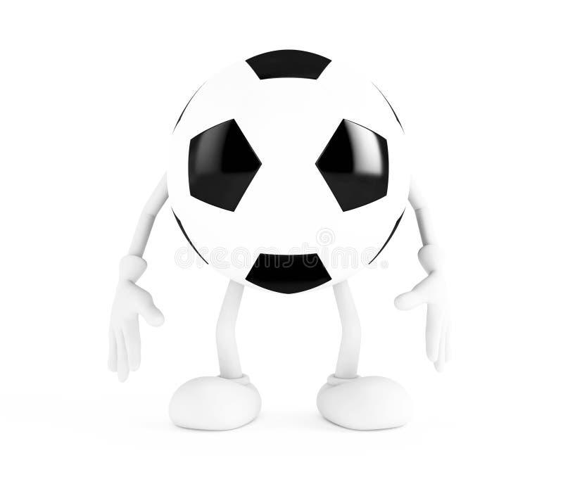 Esfera de futebol no fundo branco ilustração do vetor