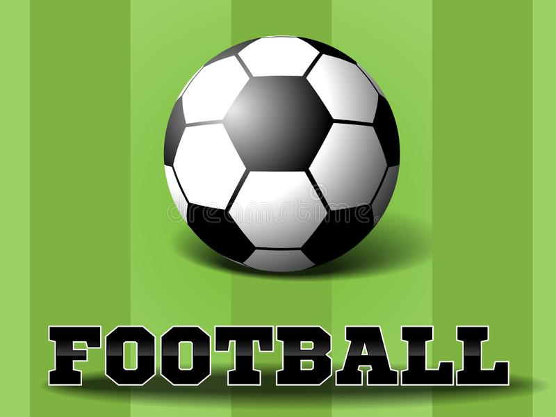 Esfera de futebol no fundo da grama verde Vetor Eps10 ilustração stock