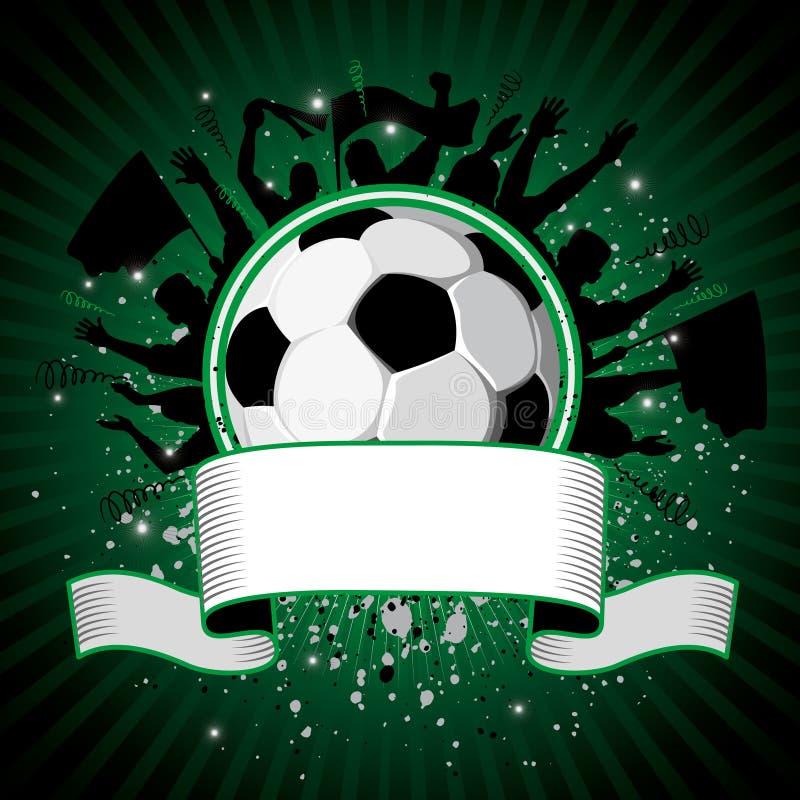 Esfera de futebol no fundo do grunge ilustração stock