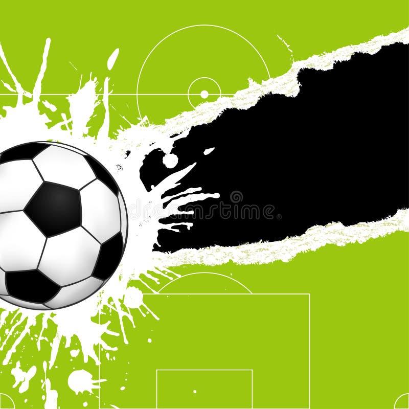 Esfera de futebol no papel rasgado ilustração do vetor