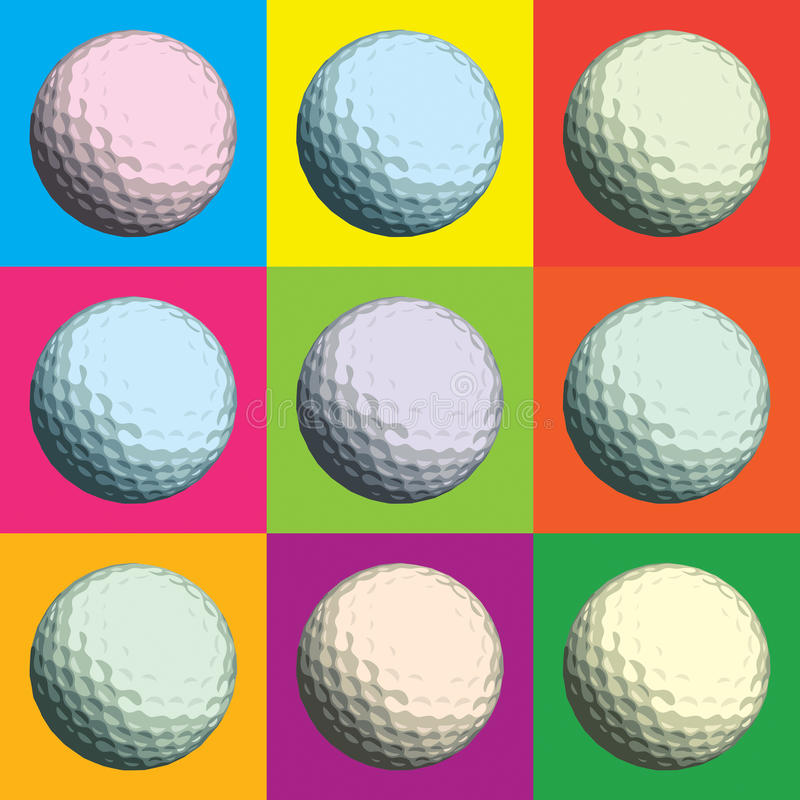 Esfera de golfe ilustração do vetor