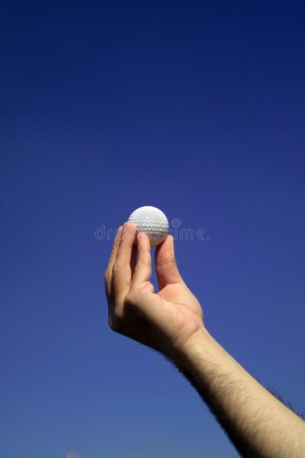 Esfera de golfe branca foto de stock royalty free