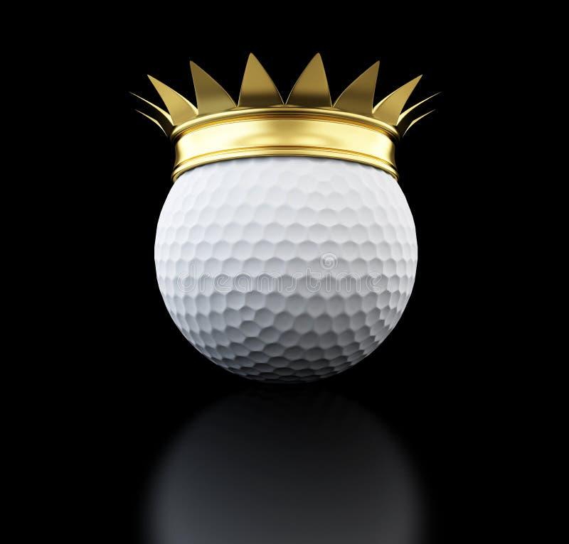 Esfera de golfe crescida ouro ilustração royalty free